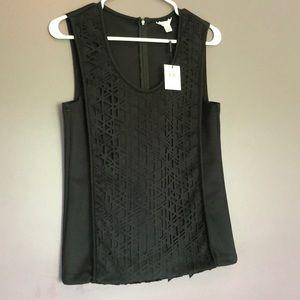 Calvin Klein zip up sleeveless top
